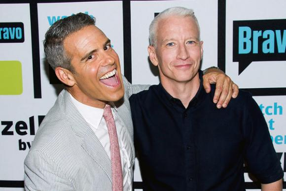 Anderson Cooper & Andy Cohen at Nob Hill Masonic Center