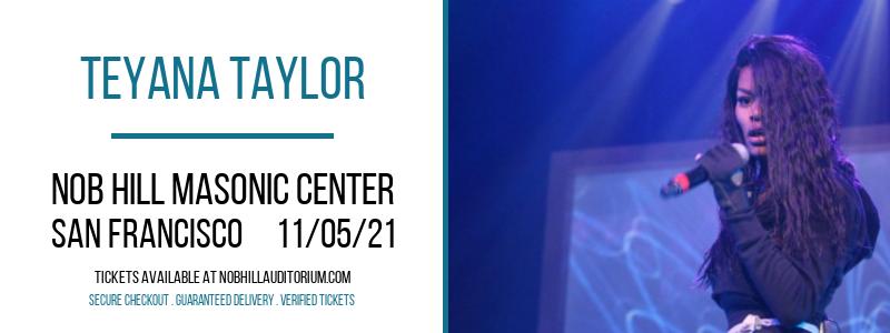 Teyana Taylor at Nob Hill Masonic Center