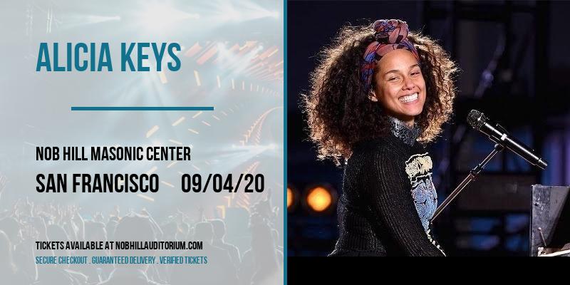 Alicia Keys at Nob Hill Masonic Center
